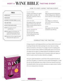 Host A Wine Bible Tasting Event