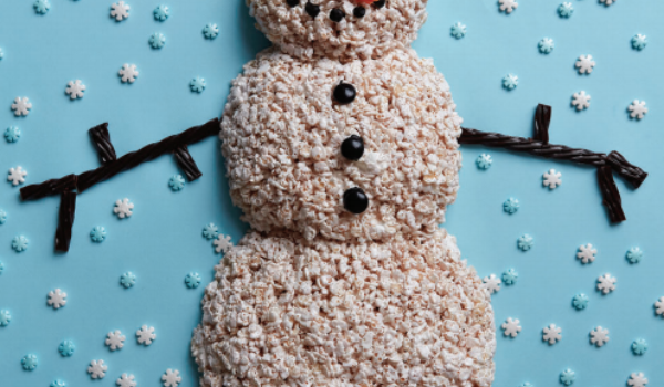 TREAT YOURSELF: Crispy Rice Snowman thumb